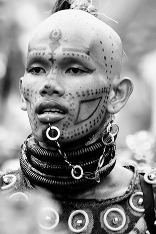 Tribal Face Paint Man